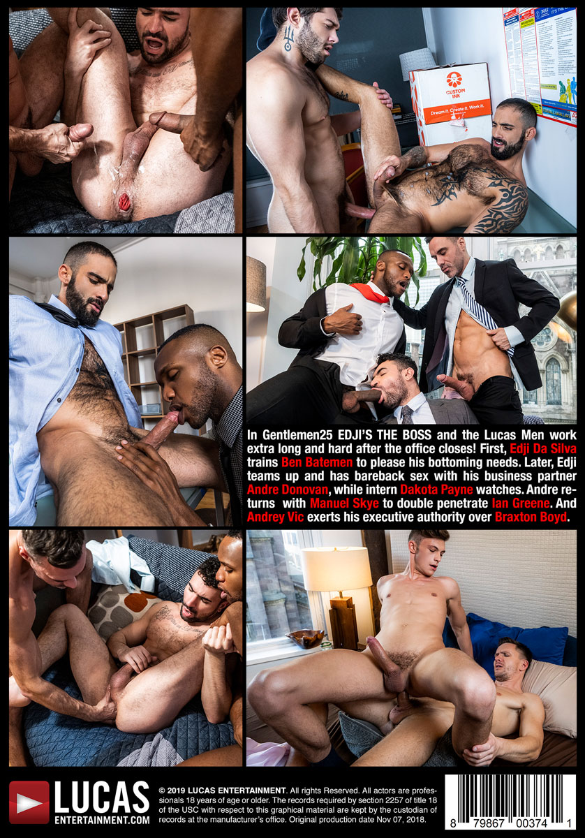 Gentlemen 25: Edji's The Boss | Gay Men Having Bareback Sex In Suits